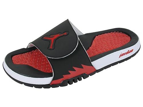 02b4f6c6221b Nike Men s NIKE JORDAN HYDRO V RETRO SANDALS 9 Men US (BLACK FIRE ...