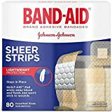 BAND-AID Sheer Strips Assorted 80 Each (Pack of 6)