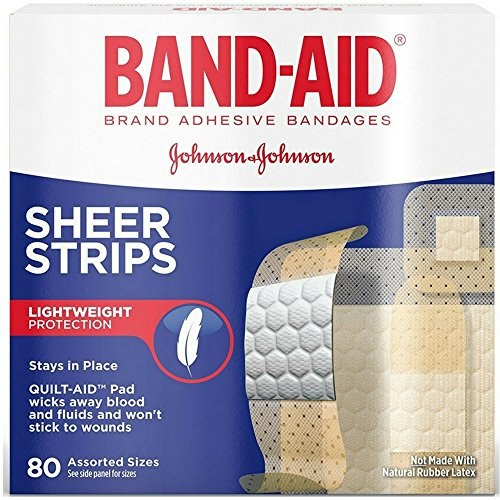 BAND-AID Sheer Strips Assorted 80 Each (Pack of 6) -