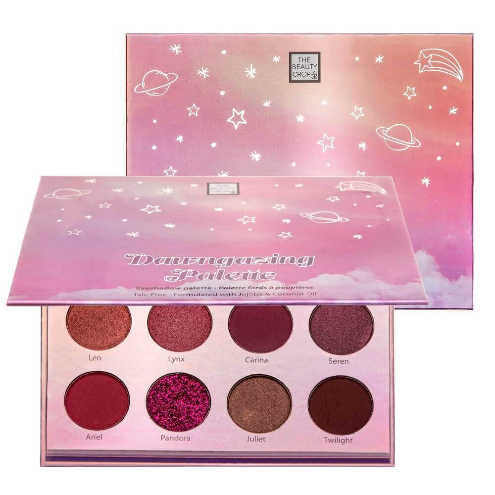 The Beauty Crop - Dawngazing Eyeshadow Palette | Highly Pigmented Shades | Enriched with Jojoba & Coconut Oil | Matte, Creamy Metallic & Glitter Finish | Makeup Kit | Vegan & Cruelty Free