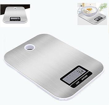 Báscula digital de cocina ultraligera para hornear, resistente al agua, báscula electrónica portátil (excluyendo batería): Amazon.es: Hogar