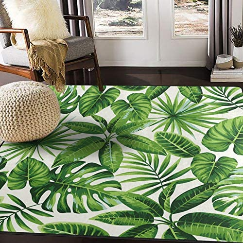 ALAZA Tropical Green Exotic Palm Leaves Area Rug Rug