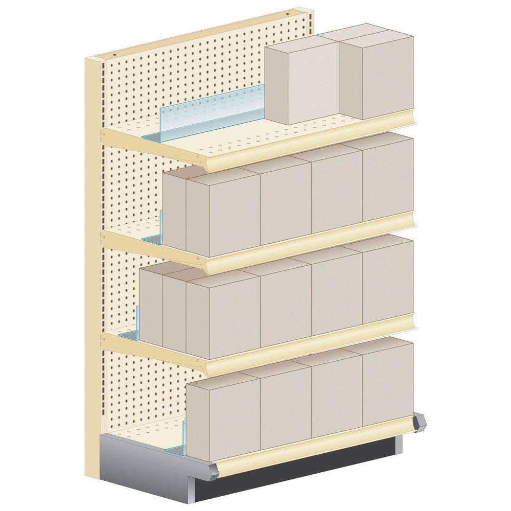 KostKlip Inventory Saver Shelf Management Clear 4 48