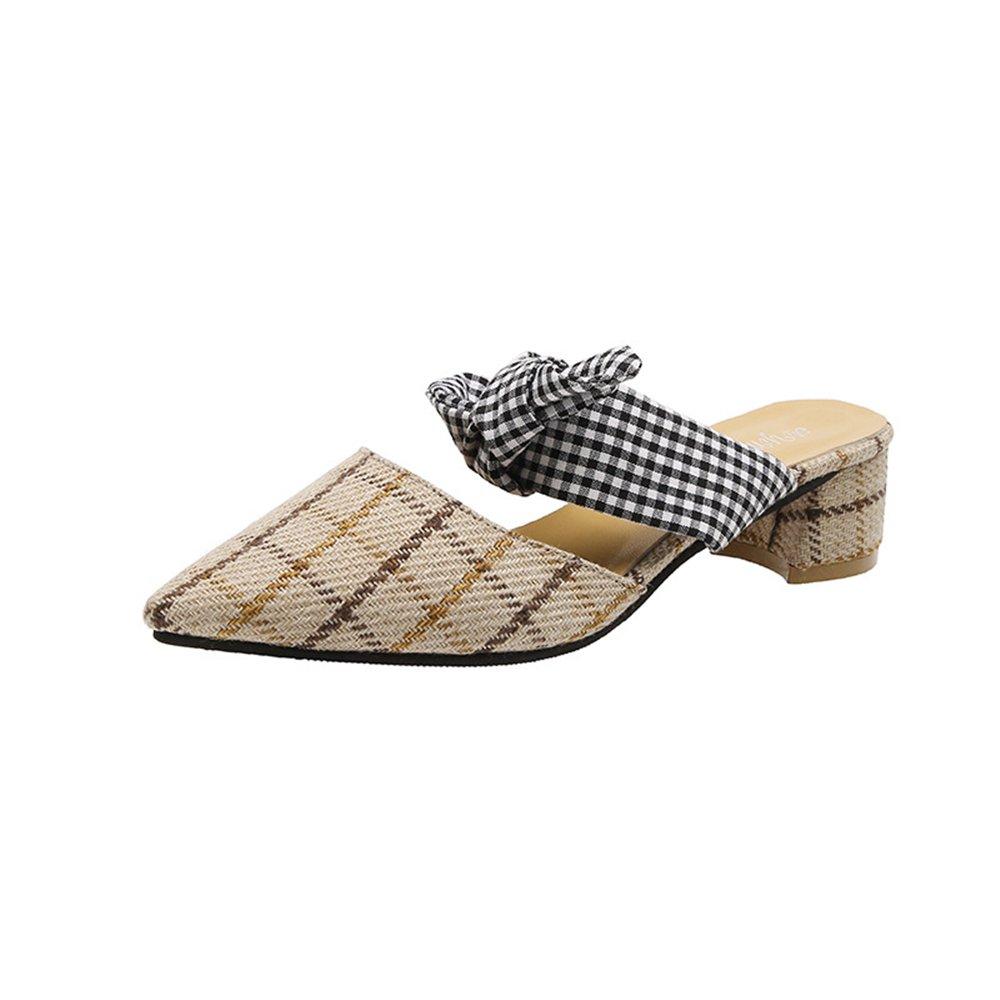 Bon Soir Womens Shoes Low Heel Clog Mule Slip On Slide Sandals