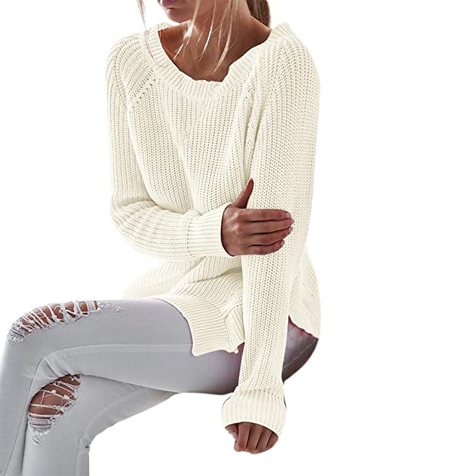 STRIR-Ropa Jerseys de Punto Mujer Sueter Tejido Señora Suéter Mujeres Jersey Oversize Largo Sweaters