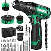 Kimo 48pcs Cordless Drill Set w/Battery Brushes Tape Measure Deals