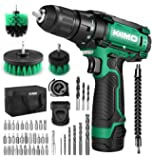 Cordless Drill/Driver Kit, 48pcs Drill Set w/Lithium-Ion Battery Brushes Tape Measure - 12V Max Drill 280 In-lb Torque…