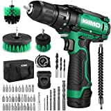 Cordless Drill/Driver Kit, 48pcs Drill Set w/Lithium-Ion Battery Brushes Tape Measure - 12V Max Drill 280 In-lb Torque, 18+1