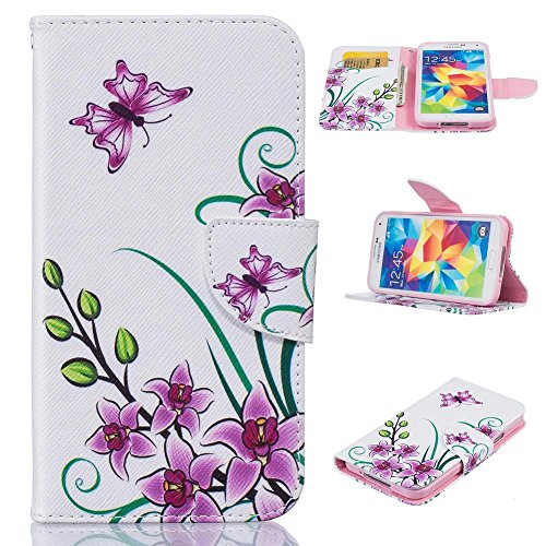 Galaxy S5 Case, Firefish Synthetic Leather Wallet [Card Slots] Kickstand Magnetic Clip Non-Slip Shock Absorption Bumper Shell Perfect Fit for Samsung Galaxy S5 -Pink - Dollar Cases Galaxy For S5