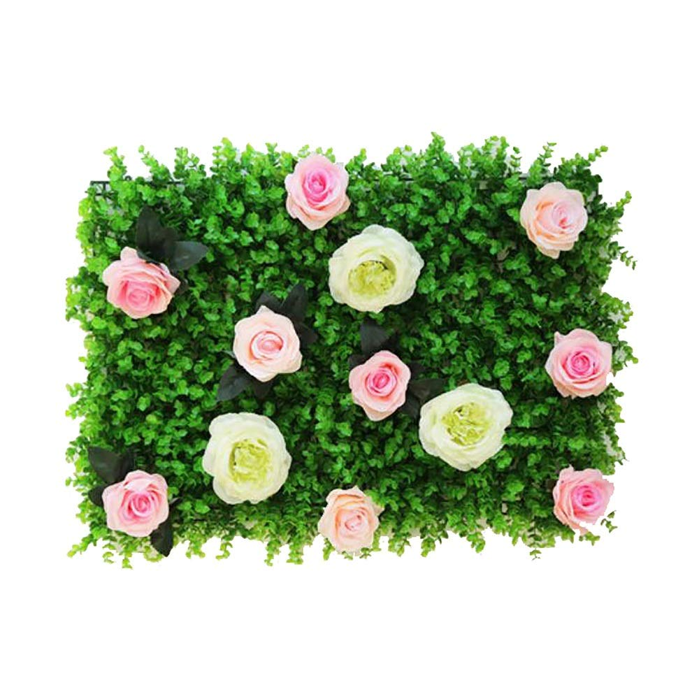 MS Furniture Simulation Flower Wall Background Wall Decoration Rose Net Red Wall Decoration Plant Wall Fake Silk Flower Wall Wedding Window Decoration Wall (Multiple Colors Optional) @ (Color : B) by MS Furniture