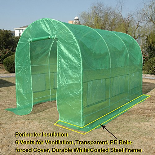Quictent 12′ X 7′ X 7′ Portable Greenhouse Large Walk-in Green Garden Hot House