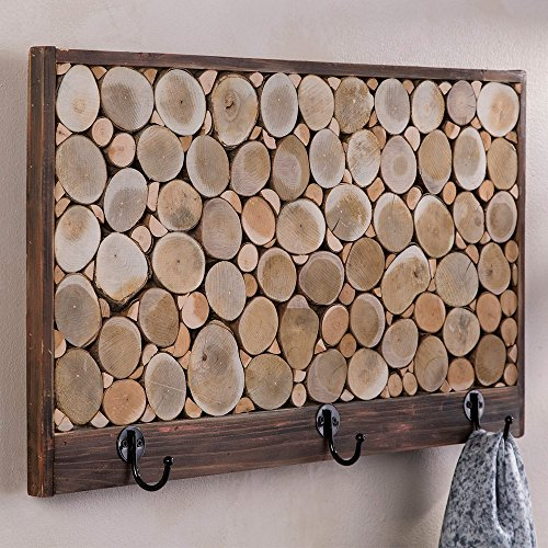 Vivaterra Reclaimed Wood Sliced Coat Hook Rack - 23.5
