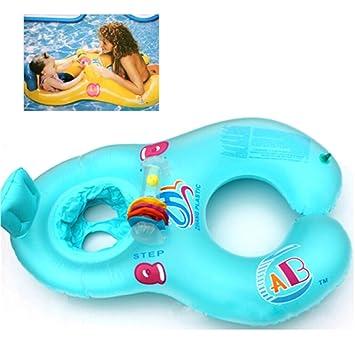 Seguro hinchable blanda Mother & Baby nadar flotar el anillo de ...