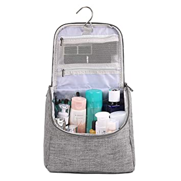 Amazon.com   Hanging Toiletry Bag for Men Women Waterproof Cosmetics Makeup  and Toiletries Bag for Travel (gray)   Beauty 0279ab9f5811e