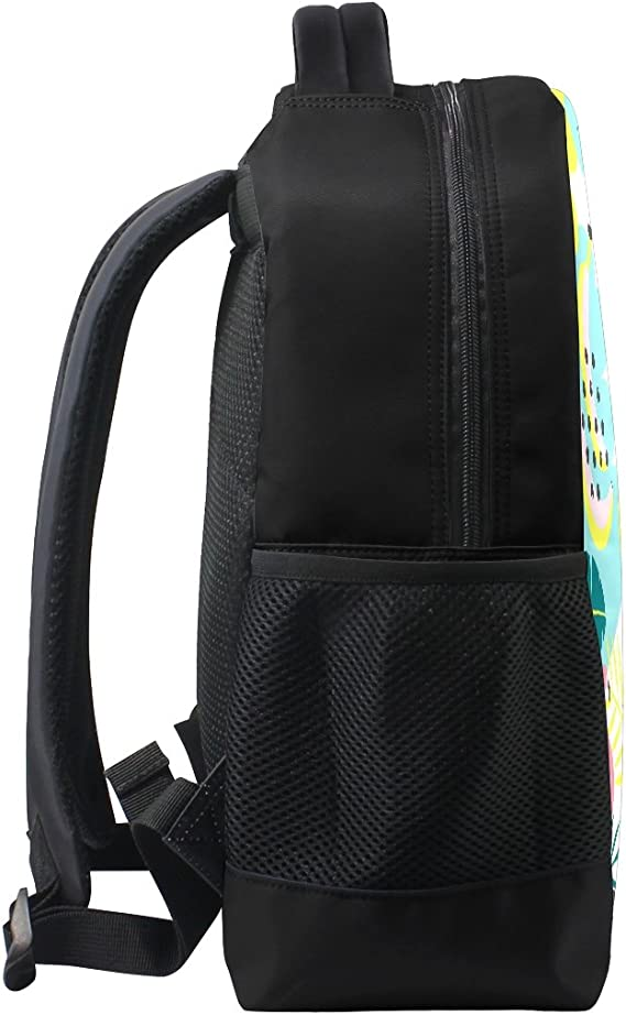 Seaweed Pattern Print Laptop Backpack High School Bookbag Casual Travel Daypack