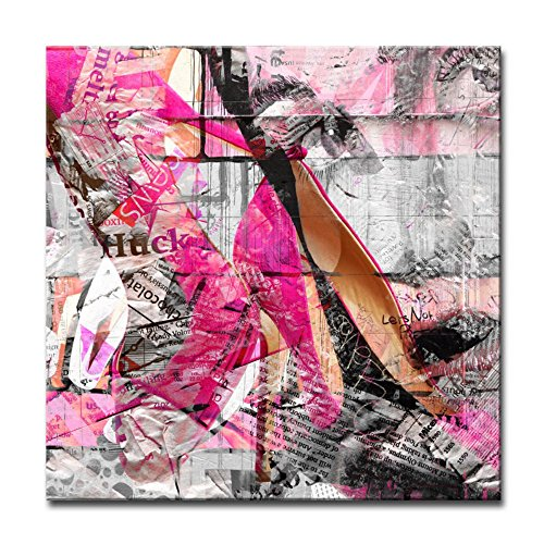 Ready2HangArt - 'Urban Fashion ' Canvas Art, Pink wall art