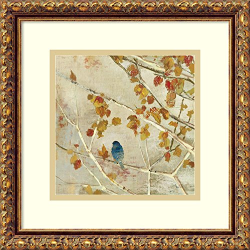 (Framed Art Print, 'Singing II' by Asia Jensen: Outer Size 14 x 14