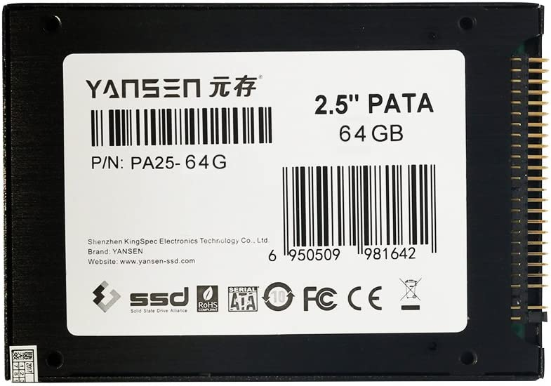Disco de Estado sólido SSD de 64 GB KingSpec, 2,5 Pulgadas (Flash ...