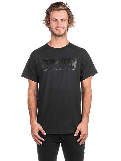 cfa548be649 Thrasher Magazine Skate Mag T-Shirt Black On Black: Amazon.co.uk: Clothing