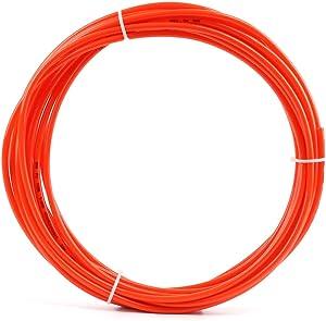 "SNS Pneumatic Od 1/4"" 10 Meters Orange Color PU Pneumatic Air Tubing Pipe Hose for Air line or Fluid Transfer"