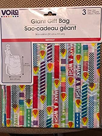 Image Unavailable Not Available For Color VOILA Giant Birthday Gift Bag