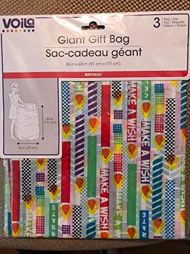 Amazon.com: VOILA - Bolsa de regalo para cumpleaños (14.2 x ...