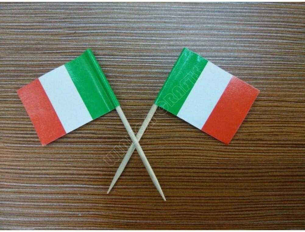 Mini Italia Documento della Bandiera Alimentare Picks Cena Torta Stuzzicadenti Cupcake Decorazione di Frutta Sticks Partito Topper Sticks 50pcs