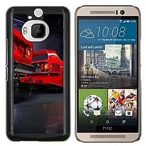 F40 Vintage- Metal de aluminio y de plástico duro Caja del teléfono - Negro - HTC One M9+ / M9 Plus (Not M9)