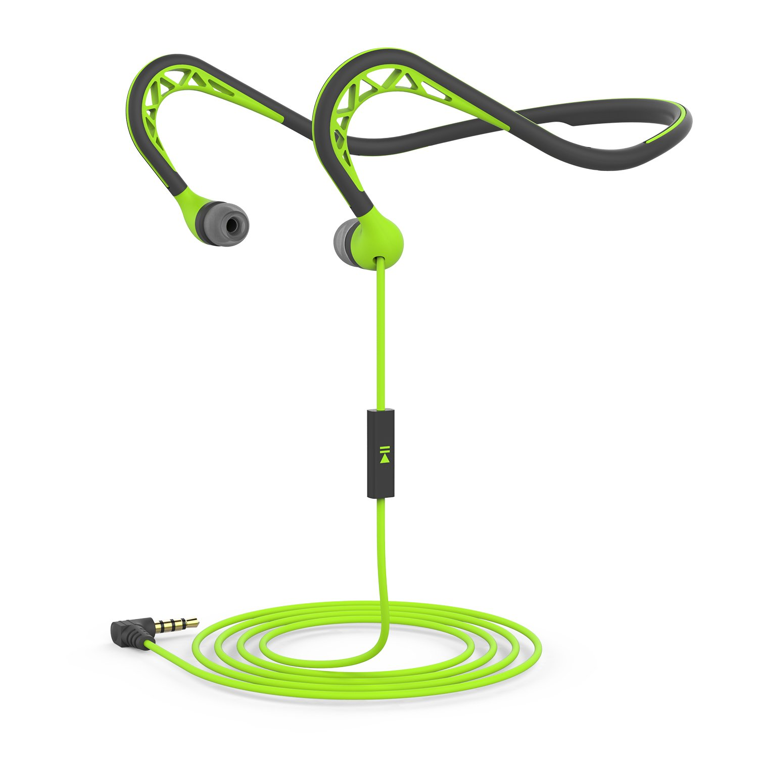Neckband Sports Earbud, Workout Earphone with Microphone, Stereo Headset with Noise Isolating, Sweatproof In-Ear Headphone for iPhone Android, Green Shenzhen Willong Technology Co. Ltd H131