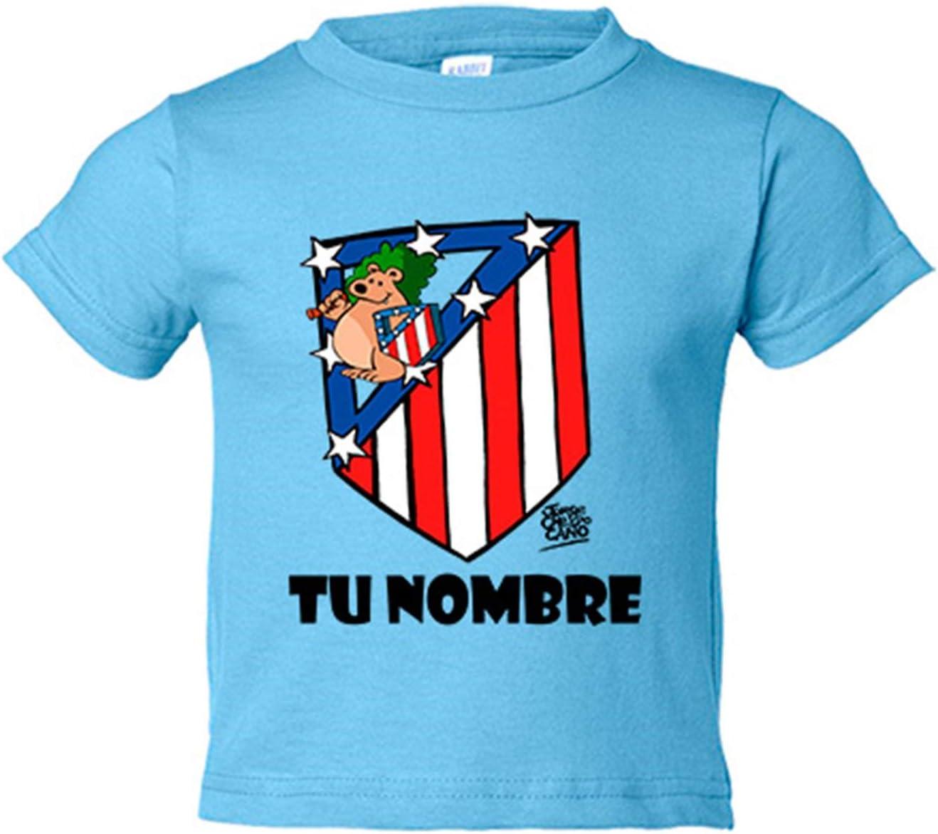 Camiseta niño Atlético de Madrid El Escudo del Atleti clásico personalizable con nombre - Amarillo, 3-4 años: Amazon.es: Bebé