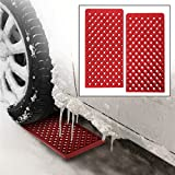 2pk Winter Roads Instant Traction Non-Slip Mats Tire Grip Set Snow Mud Car Truck