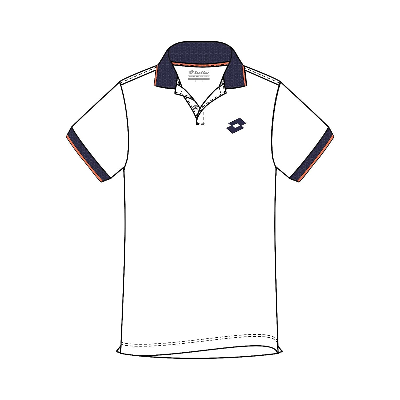Lotto L73 Polo Logo II - Polo, Hombre, Blanco(Wht/NVY): Amazon.es ...