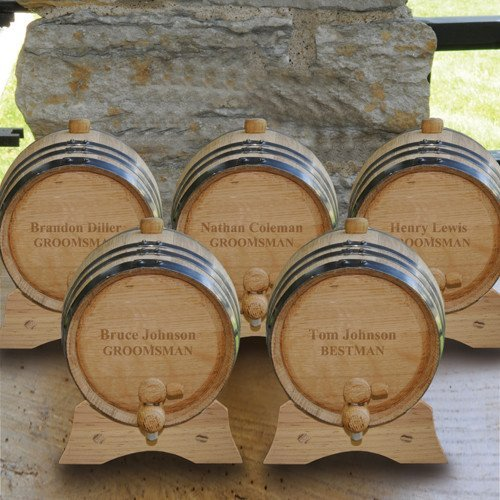 Personalized Whiskey Barrel - Set of 5 by A Gift Personalized