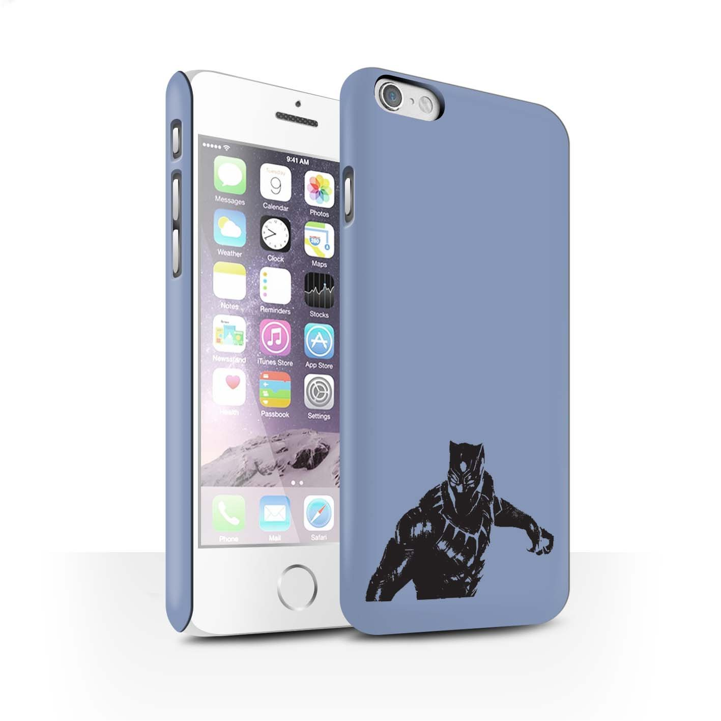 Stuff4 Matte Hard Back Snap-On Phone Case for Apple iPhone 6 / Action Pose  Design/Black Panther Inspired Collection