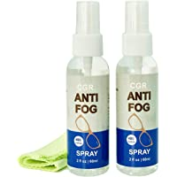 CGR Anti Fog Spray for Glasses: 2 oz Spray | Prevents Fog on All Lenses and Glasses, Sunglasses, Goggles, Faceshields…