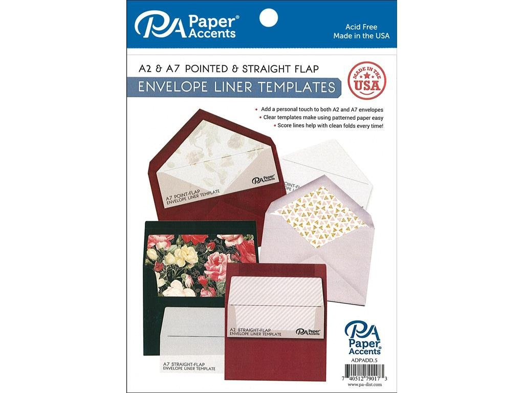 Amazon Paper Accents 4pc A2 A7 Envelope Liner Templates