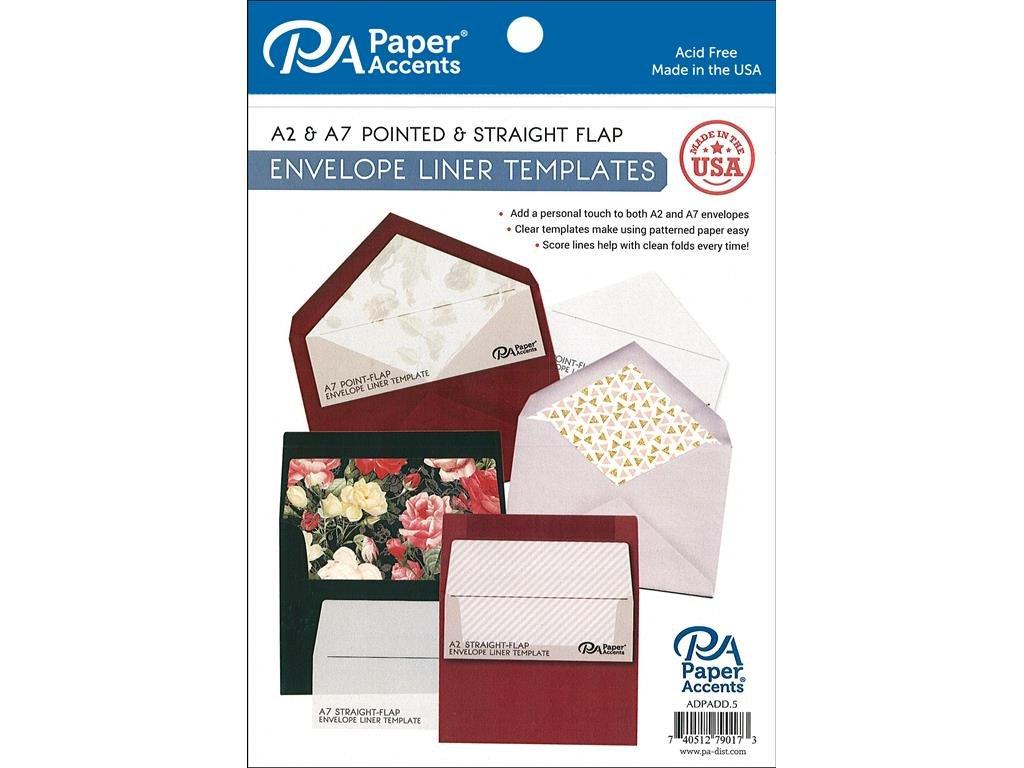 Amazon Com Paper Accents 4pc A2 A7 Envelope Liner Templates