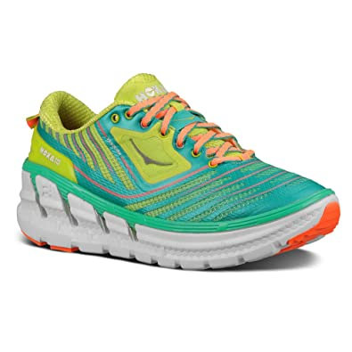 New Hoka One One Vanquish Acid/Aqua/Neon Coral 9.5 Womens Shoes