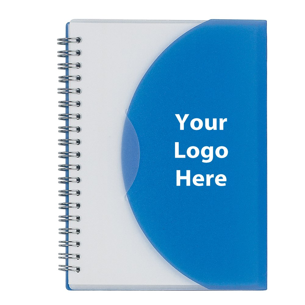 5'' X 7'' Spiral Notebook - 100 Quantity - $1.99 Each - PROMOTIONAL PRODUCT / BULK / BRANDED with YOUR LOGO / CUSTOMIZED
