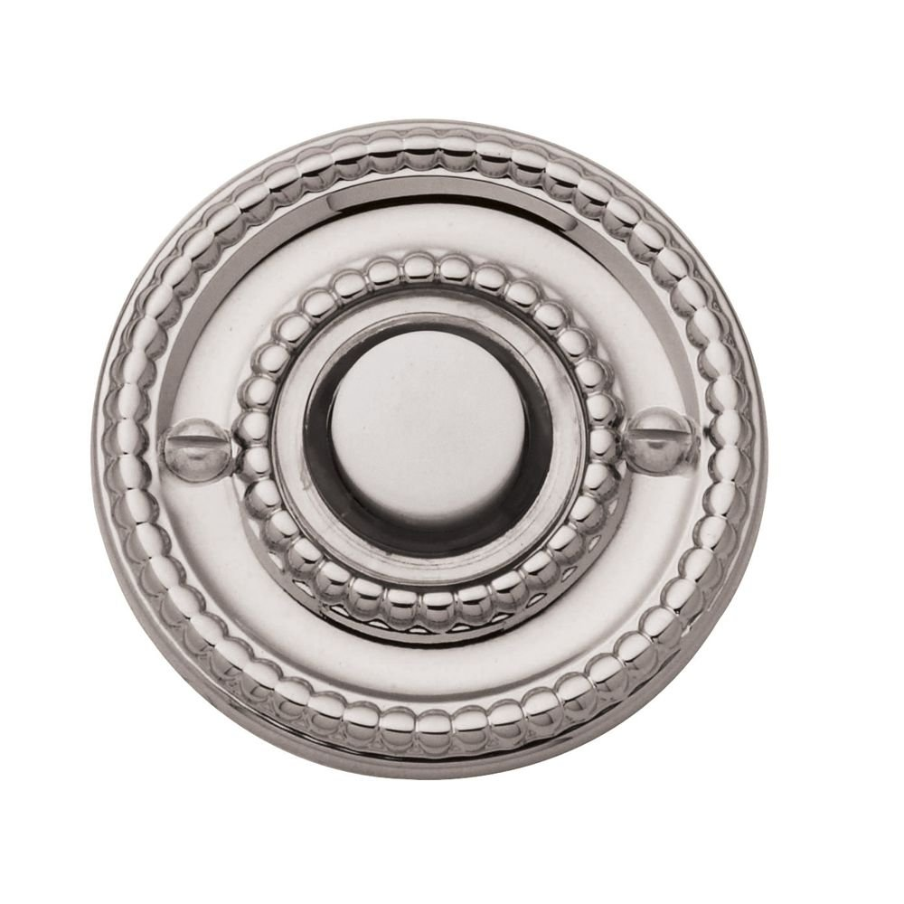 Baldwin 4850.055 Lifetime Polished Nickel Beaded Bell Button