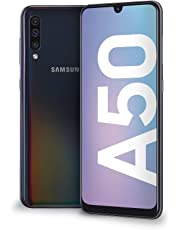 "Samsung Galaxy A50 Display 6.4"", 128 GB Espandibili, RAM 4 GB, Batteria 4000 mAh, 4G, Dual SIM Smartphone, Android 9 Pie, (2019) [Versione Italiana], Nero."