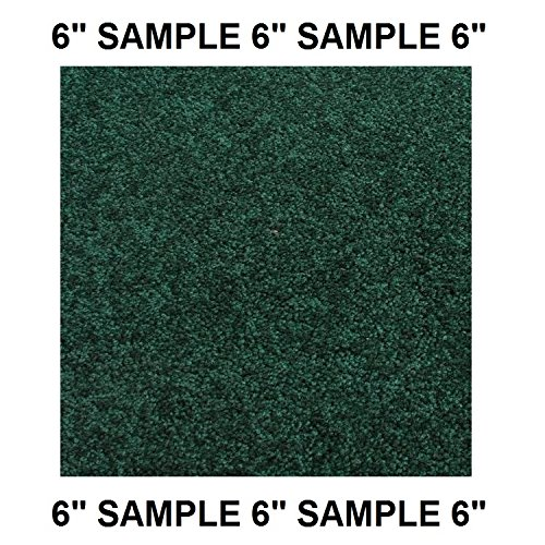 SAMPLE (6 inch) - Dog Assist Carpet Stair Treads (Green & Blue Shades)- SHAW Orchard Mills II 30 Oz. Cut Pile (Emerald Forrest Green - SAMPLE SWATCH)