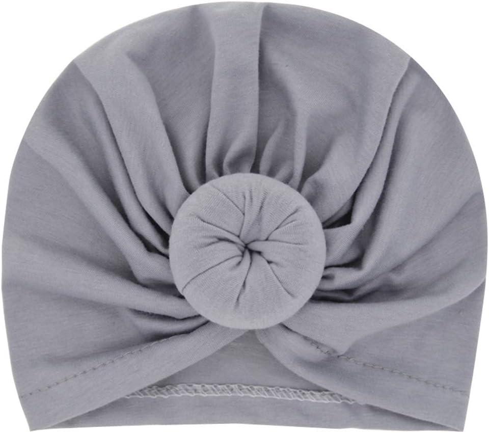Miaoo Soft Cotton Baby Girls Hats Turbans Newborn Headwear Wrinkle Headwrap Red