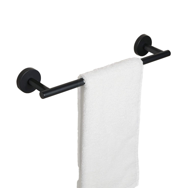 aluminio color negro mate Beelee BA9299B-30 Soporte para toallas de ba/ño