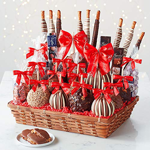 Mrs Prindables Colossal Holiday Caramel Apple Gift Basket
