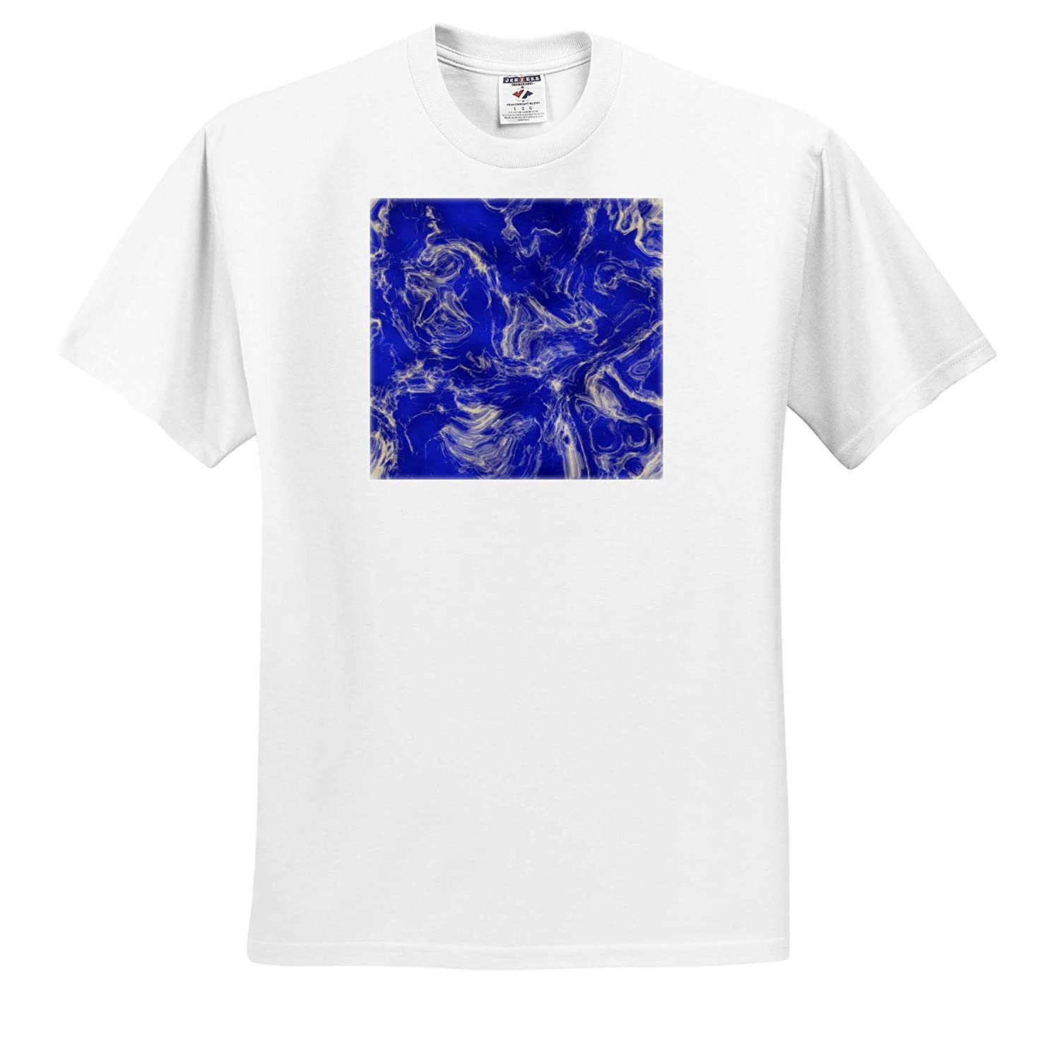 Blue Marbled Paint 3dRose Andrea Haase Abstract Art and Design T-Shirts