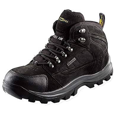 MENS EUROTEC WATERPROOF SAFETY WORK LEATHER BOOTS S3 HIKER STEEL TOE CAP MIDSOLE
