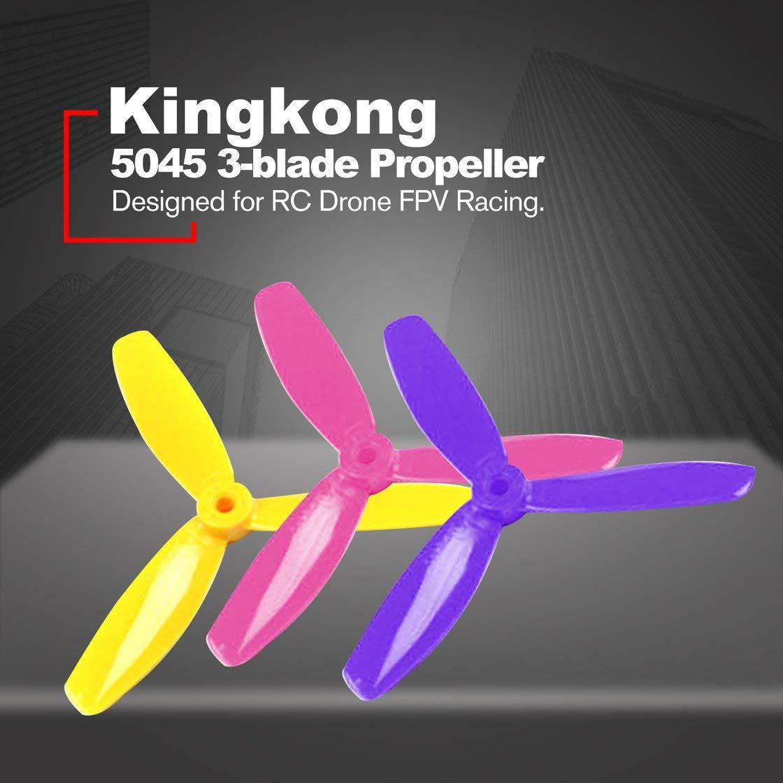 LDARC 5X4.5X3 5045 5 Zoll 3-Blatt Regenbogen Bunter Propeller CW CCW f/ür RC Drone FPV Racing Ersatzteile Hermosairis 7 Paare Kingkong