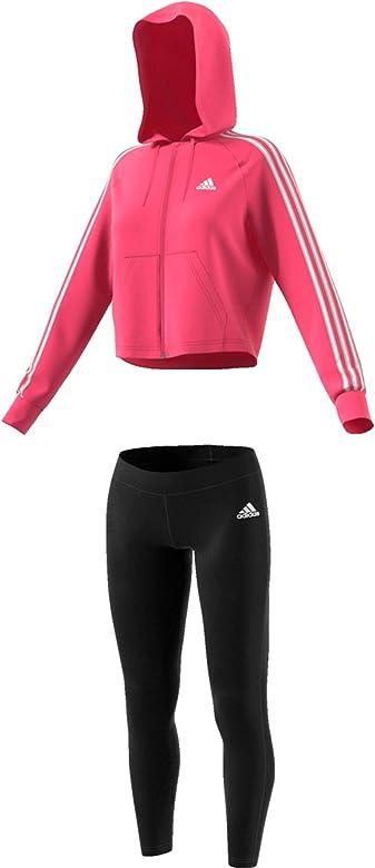 adidas WTS Hoody&Tight Chándal, Mujer, rosrea/Negro, 2XSL: Amazon ...