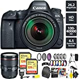 Canon EOS 6D Mark II DSLR Camera + 24-105mm f/3.5-5.6 Lens + 256GB Memory Card (2X 128) + Canon 24-105mm Lens Zoom Combo Review